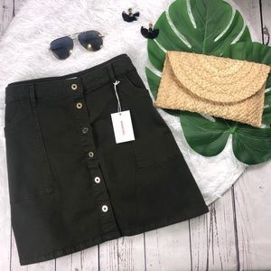Good American Olive Green Skirt